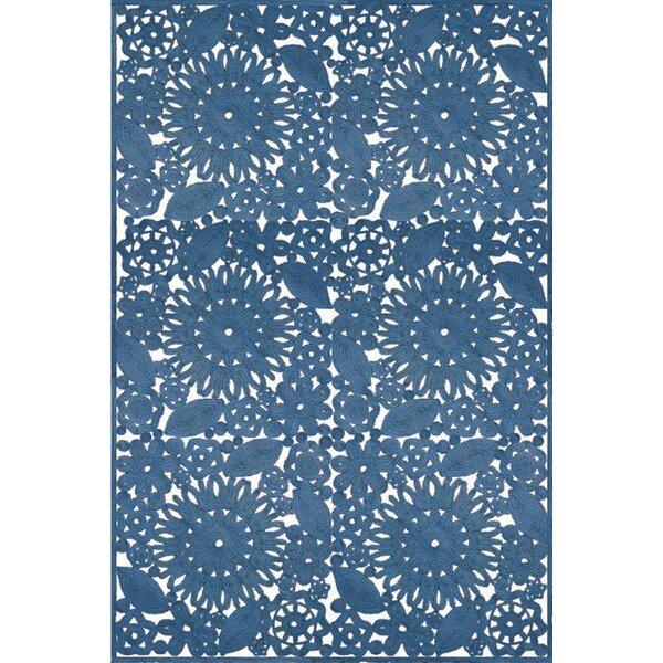 Lanier Hand Woven Blue Indoor/Outdoor Area Rug by Lark Manor