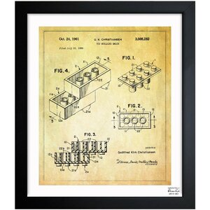 'Lego Toy Building Brick 1961' Graphic Art Print by Trent Austin Design