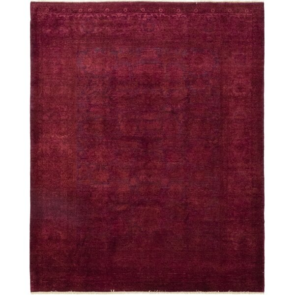 One-of-a-Kind Courter Hand-Knotted Wool Pink Indoor Area Rug by Bungalow Rose
