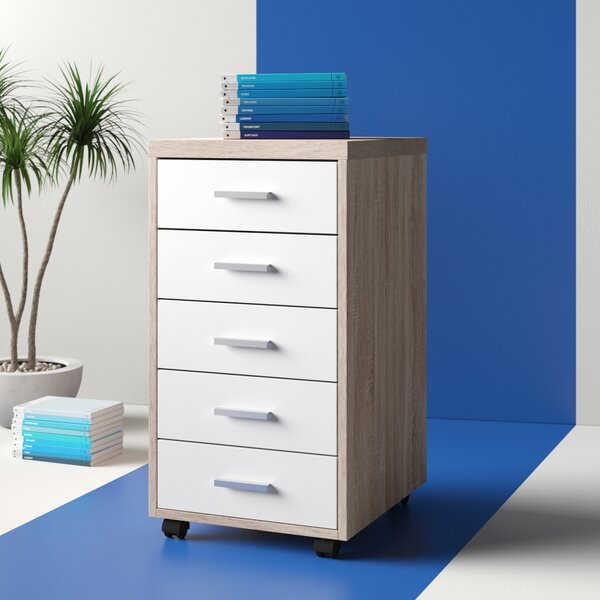 Cowell 5-Drawer Mobile Vertical Filing Cabinet