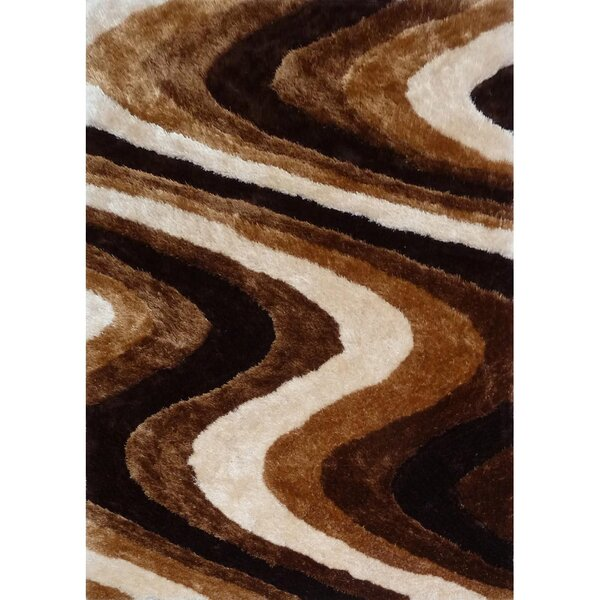 Living Shag Brown Rug by Rug Factory Plus