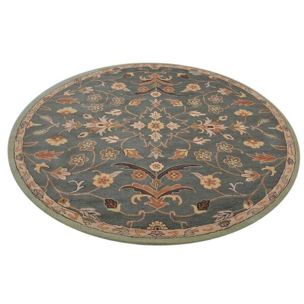 Creager Hand-Tufted Wool Green/Beige Area Rug by Charlton Home