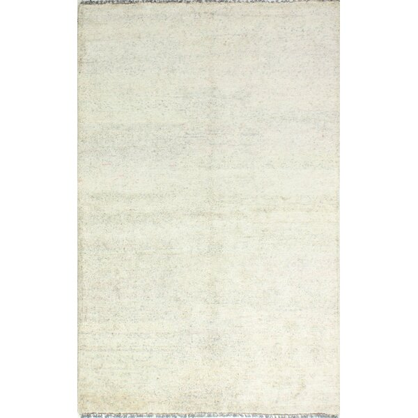 Plunkett Hand Knotted Cotton Cream Area Rug by Latitude Run