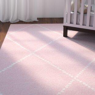 Nat Diamond Hand Tufted Baby Pink Area Rug