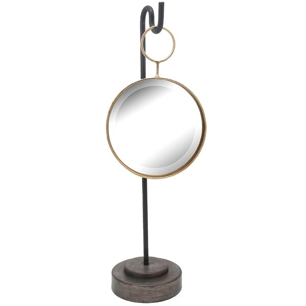 Metal Round Freestanding Mirror by Ivy Bronx
