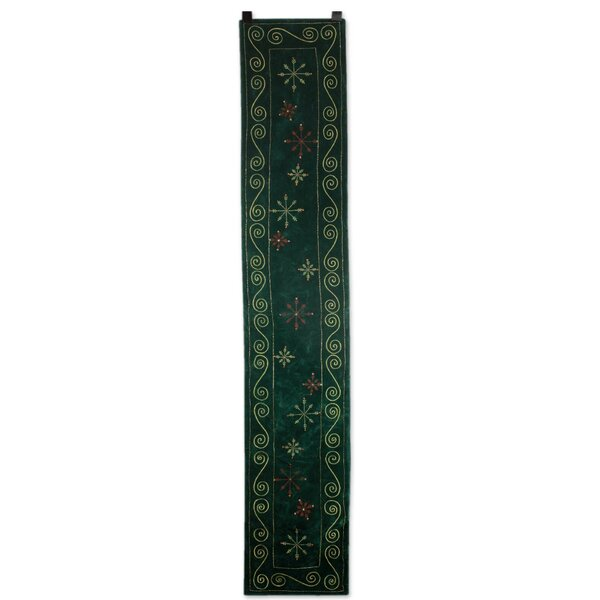 Forest Wonderland Embroidered Table Runner by Novica