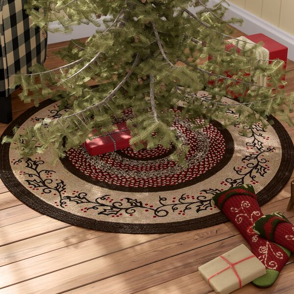 Jute Stenciled Tree Skirt by August Grove