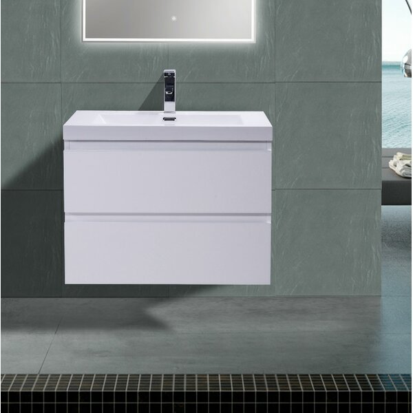 Lina 30 Wall Mounted Single Bathroom Vanity Set by Orren Ellis