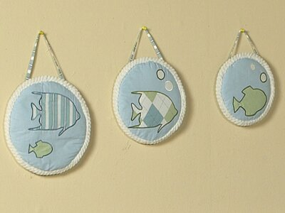 3 Piece Go Fish Hanging Art Set by Sweet Jojo Designs