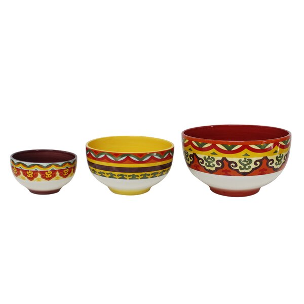 Galicia 3 Piece Ceramic Mixing Bowl Set by Euro Ceramica