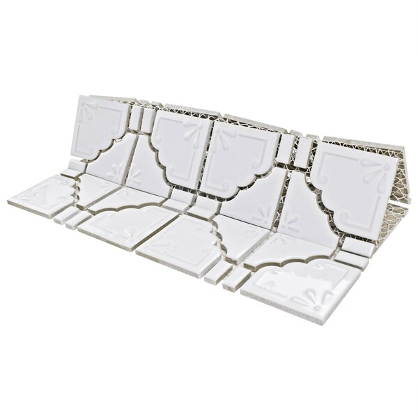 Moonlight Porcelain Mosaic Tile in Glossy White by EliteTile
