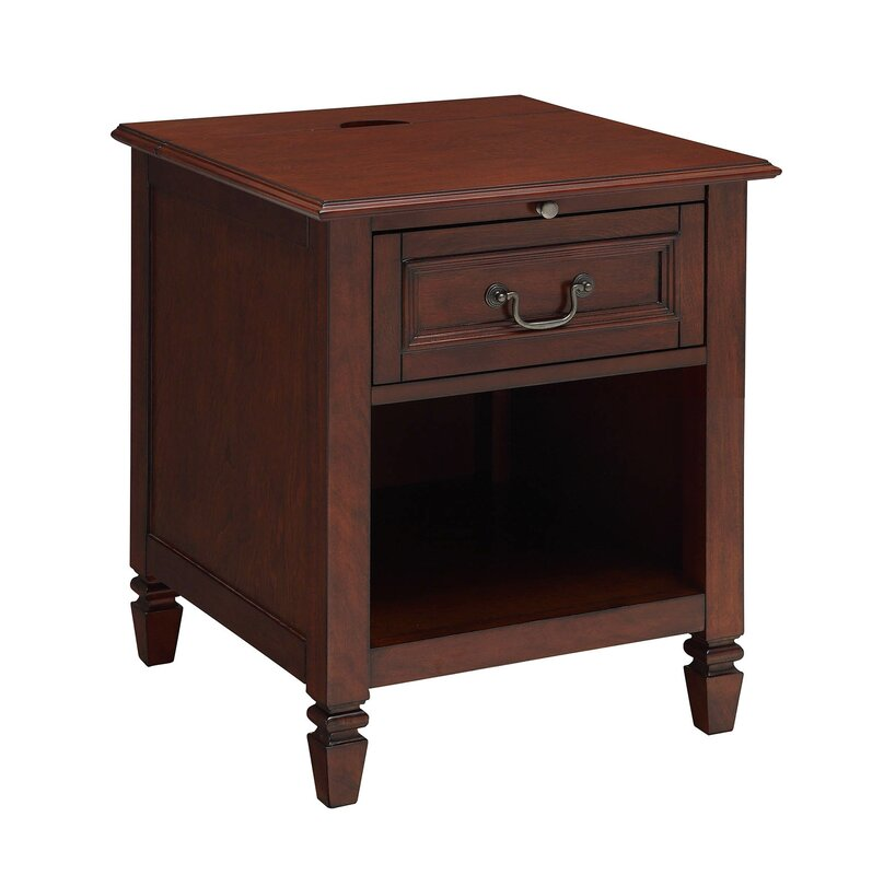 Hamner 1 Drawer Nightstand With Charging Station