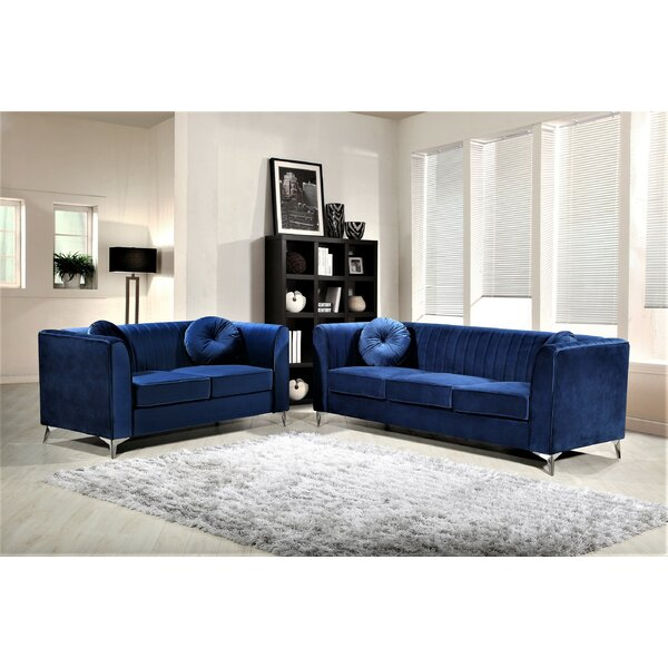 Aadvik 2 Piece Living Room Set (Set of 2) by Mercer41