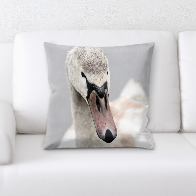 East Urban Home Swan Throw Pillow Wayfair