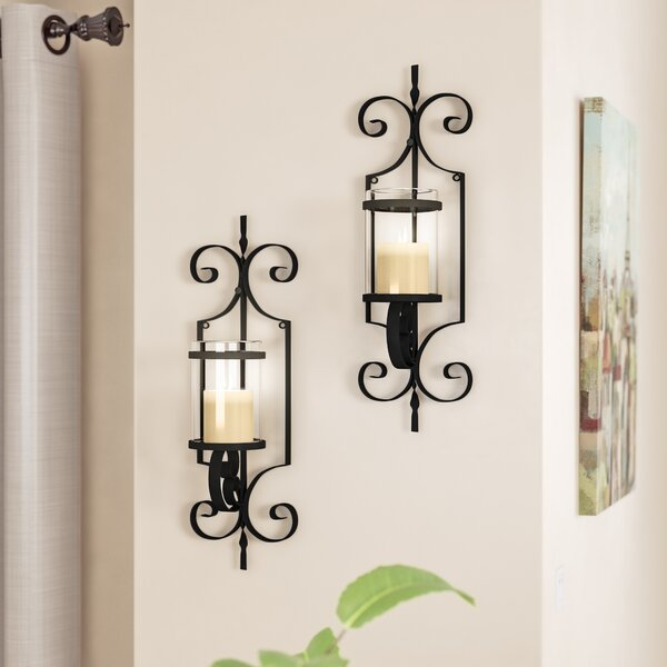 Iron Sconce Set (Set of 2) by Red Barrel Studio