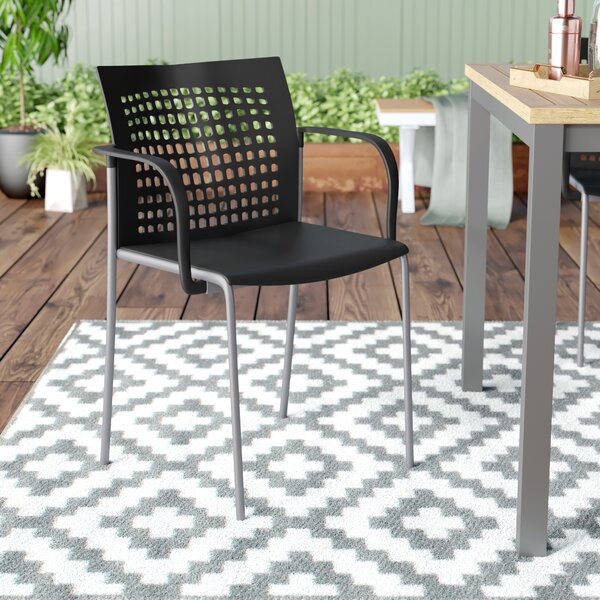 Jabari Stacking Patio Dining Chair by Zipcode Design