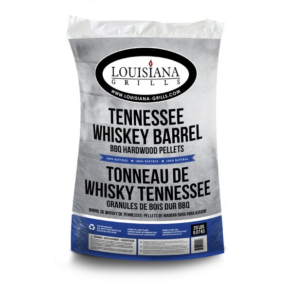 All Natural Hardwood Pellets - Tennessee Whiskey Barrel by Louisiana Grills