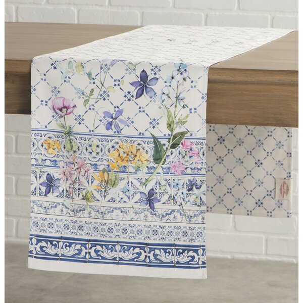 Faience Table Runner by Maison d' Hermine
