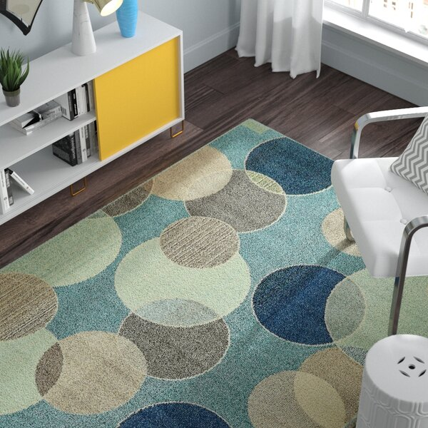 Chenango Rectangle Blue Area Rug by Zipcode Design