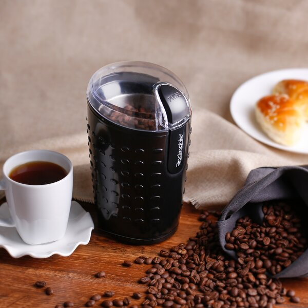 Rackaphile Stainless Steel Electric Coffee Grinder by LANGRIA