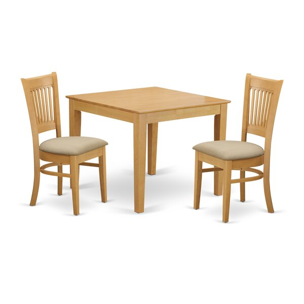 Cobleskill 3 Piece Dining Set by Alcott Hill Alcott Hill