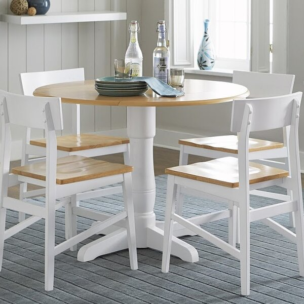 Finley Round Drop Leaf Dining Table by Beachcrest Home