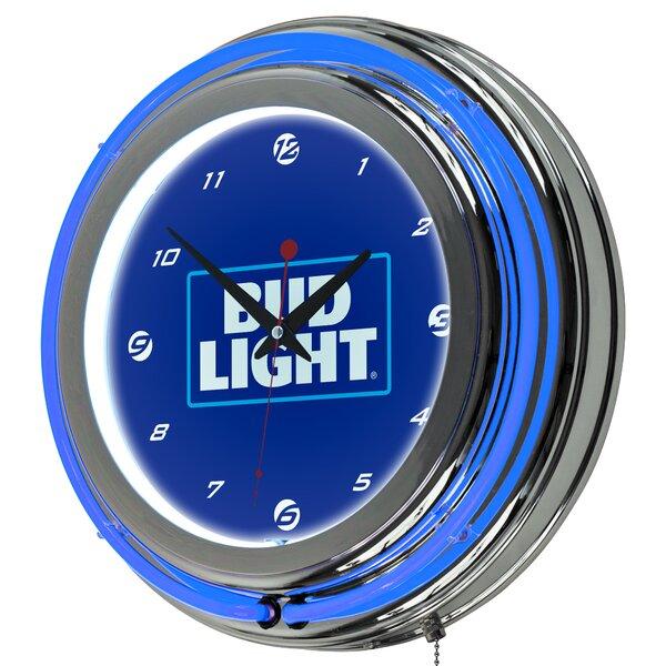 Bud Light Neon 14.5Wall Clock by Trademark Global