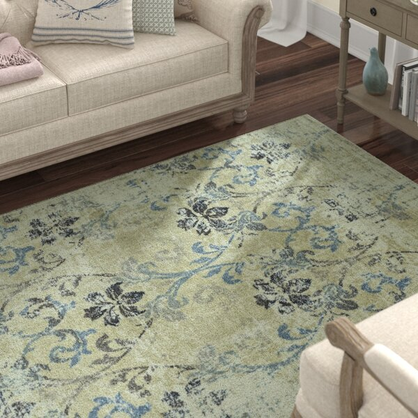 Charroux Floral and Plants Ivory Area Rug by Lark Manor
