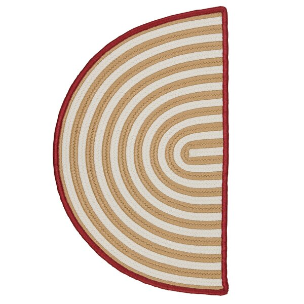 Braided Gold / White Indoor/Outdoor Rug by Colonial Mills