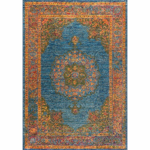 Geoffrey Blue Area Rug by Bungalow Rose