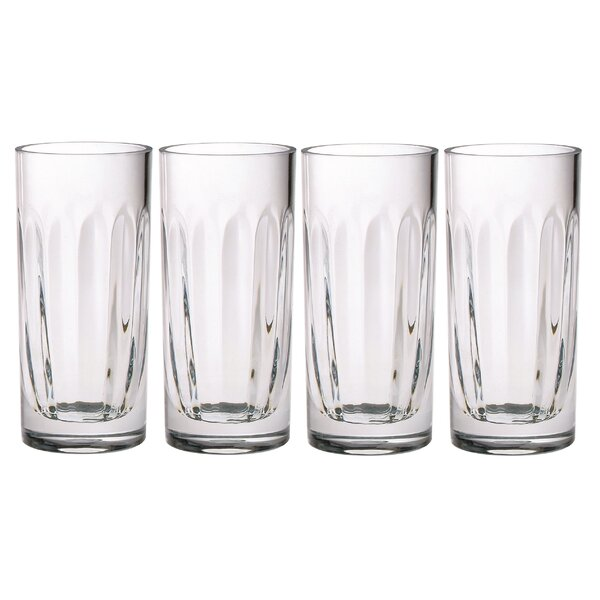 Ridge 6 oz. Acrylic Collins Glass (Set of 4) by Chenco Inc.