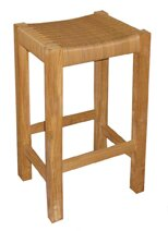 Tiki 29 Teak Patio Bar Stool by Jewels of Java