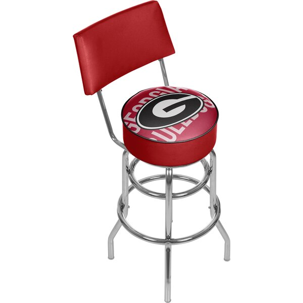 University of Georgia 31 Swivel Bar Stool by Trademark Global