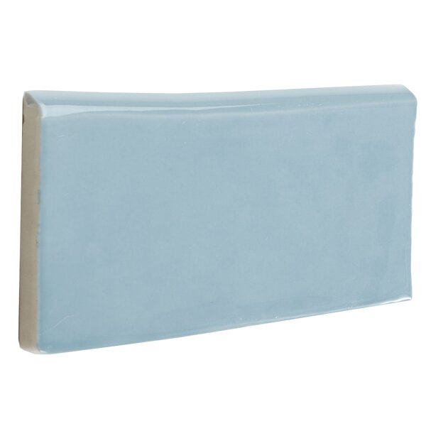 Artigiano 6 x 3 Ceramic Bullnose Tile Trim in Blue by Daltile
