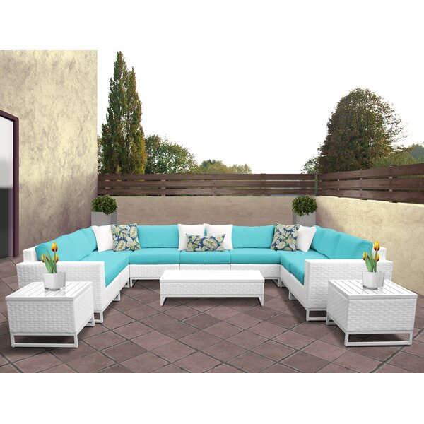 Miami 12 Piece Sectional Seating Group with Cushions by TK Classics