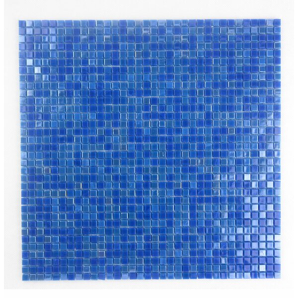 Galaxy Straight 0.31 x 0.31 Glass Mosaic Tile in Glazed Day Sky by Abolos