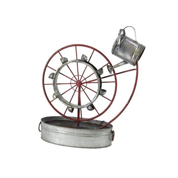 Osterley Iron Wheel Water Fountain by Gracie Oaks