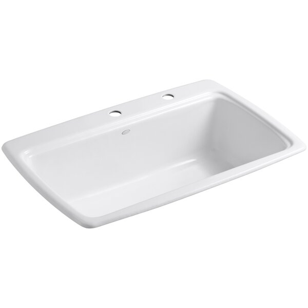 Cape Dory 33 L x 22 W x 9-5/8 Top-Mount Single-Bowl Kitchen Sink by Kohler