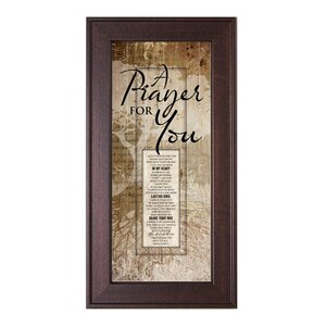 A Prayer for You Framed Graphic Art by The James Lawrence Company