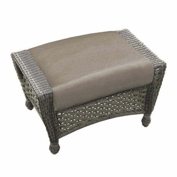 Biggs Outdoor Ottoman by Highland Dunes