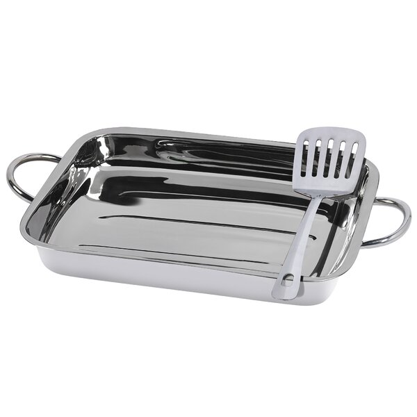 2 Piece Stainless Steel Lasagna Set by Basic Essentials