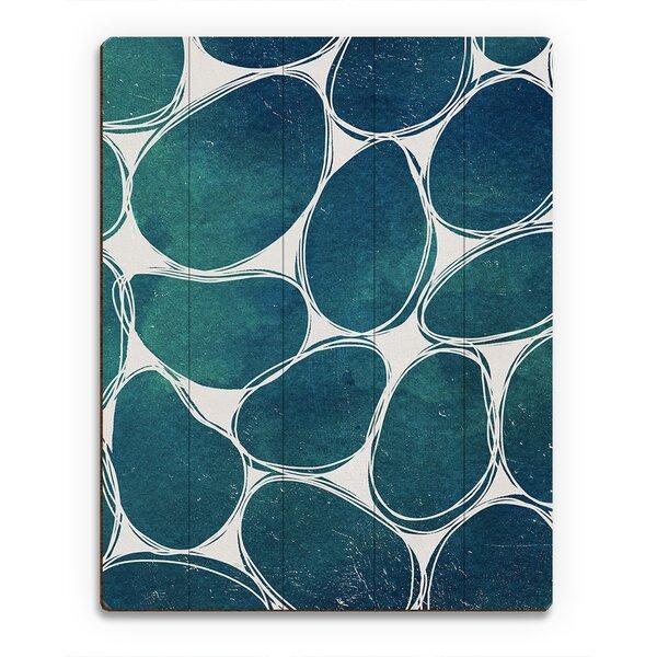 Cobblestones in Aqua Graphic Art on Plaque by Click Wall Art