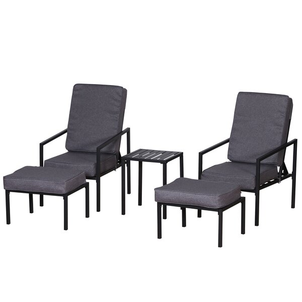 Perkinsville 5 Piece Seating Group with Cushions by Latitude Run