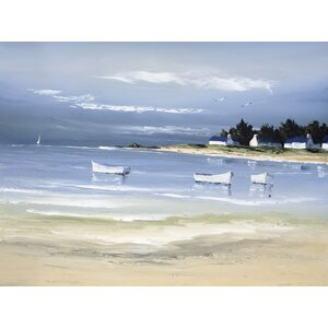 'Coastal Inlet II' Painting Print on Wrapped Canvas by Beachcrest Home
