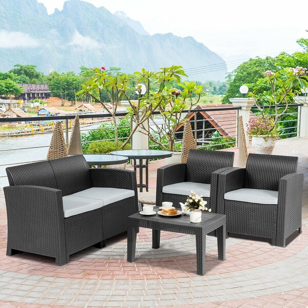 Dathan 4 Piece Sofa Seating Group with Cushions by Latitude Run