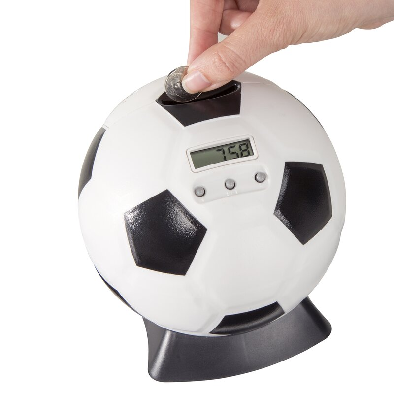 Hey play soccer ball digital coin counting piggy bank reviews - Counting piggy bank ...