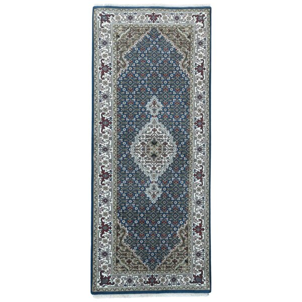 One-of-a-Kind Joanna Oriental Hand-Knotted Blue Area Rug by Astoria Grand