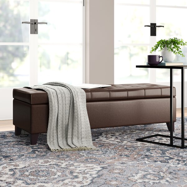 Hoagland Upholstered Storage Bench By Three Posts by Three Posts New