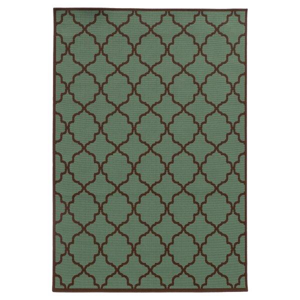 Heidy Green/Brown Indoor/Outdoor Area Rug by Zipcode Design