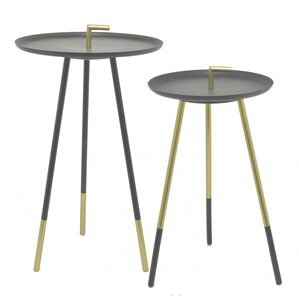 2 Piece End Table Set by Three Hands Co.